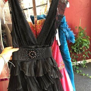 BLACK BCBG MINI DRESS